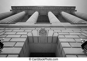 impozantní, budova, washington dc, vláda