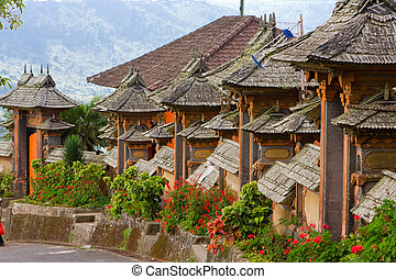 indonesia., usazení, ulice, bali