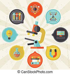 info, byt, pojem, věda, grafický návrh, style.