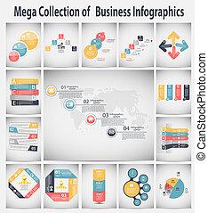 infographic, vektor, povolání, šablona, ilustrace