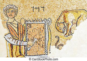 izrael, dobro, byzantský, pohybovat se, samaritan, -, fotit, církev