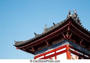 japonsko, chrám, kofukuji, nagasaki
