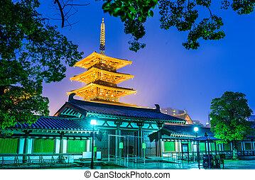 japonsko, osaka, chrám