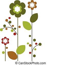 Jarní barevné květiny, abstraktní design -2