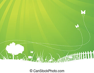 Jaro a letní motýlí zahrada