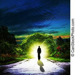Jdeme na Eden. Abstraktní duchovní pozadí