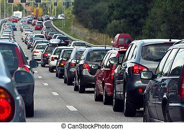 Je to dopravní zácpa