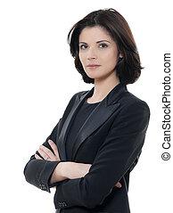 Jedna krásná kaucasínská podnikatelská žena, která se v jednom zkřížila ve studiu