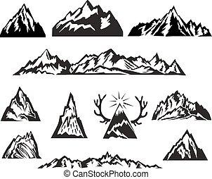Jednoduchá černobílá hora