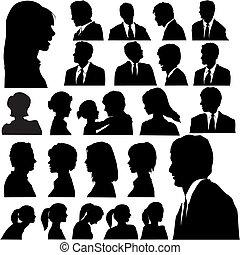 Jednoduchý portrét lidí