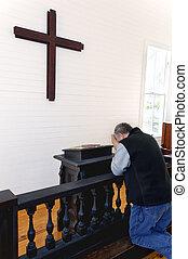 jednoduchý, prosba, církev