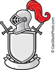 jezdec, středověký, helma