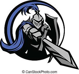 jezdec, středověký, shie, meč