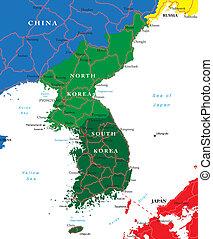Jižní a Severní mapa