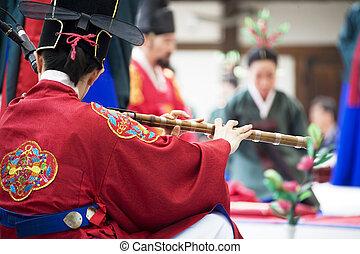 jih, tradiční, festival, korea, jongmyojerye, rituální, jongmyo