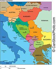 jugoslávie, země, dřívější, jména