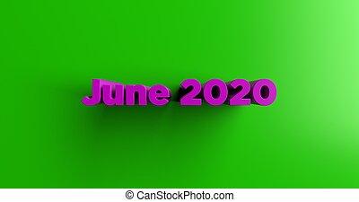 June 2020 - 3D titulek