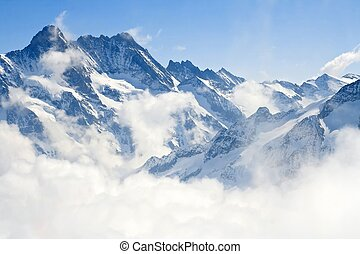 Jungfrauch alps horská krajina