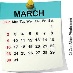 Kázový kalendář na pochodu.