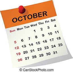 Kázový kalendář pro october.