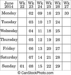 Kázový kalendář v červnu, který má každý slabý