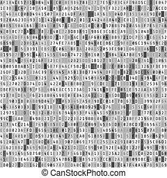 kód, matice, stream., abstraktní, čáry, ilustrace, grafické pozadí., vektor, digitální, data, element.