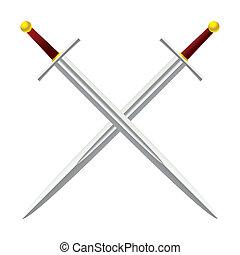 kříž, meč