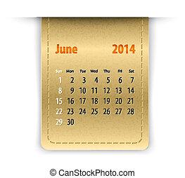 Křehký kalendář pro june-198