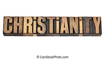 Křesťanské slovo v dřevě