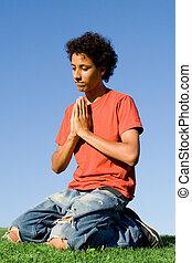 Křesťanství, klečení v modlitbě