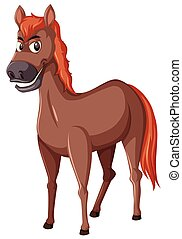 kůň, běloba grafické pozadí