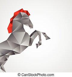 kůň, neposkvrněný, osamocený, grafické pozadí