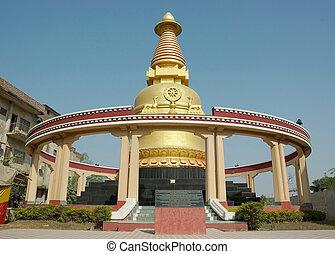 kadam, stupa, bodhgaya