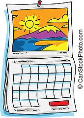 kalendář, jasný
