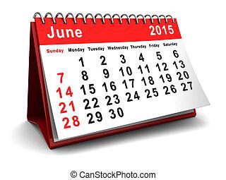 kalendář June 2015