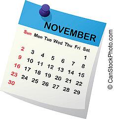 Kalendář pro november.