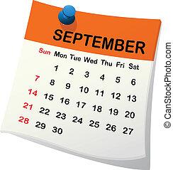 kalendář pro september.