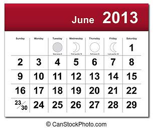 kalendář v červnu r