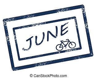 Kalendar june razítko