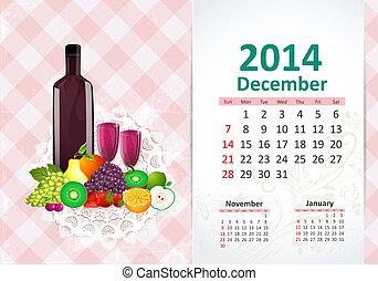 Kalendar pro rok, december