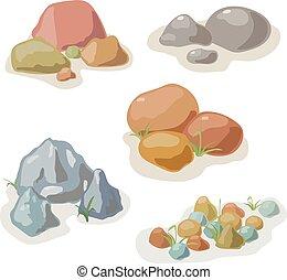 Kamen a vektor skalního vektoru