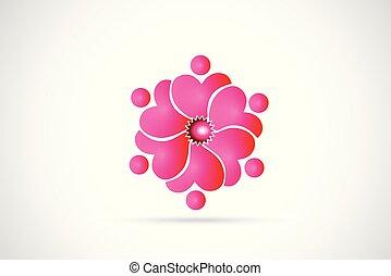 karafiát, emblém, květ, kolektivní práce