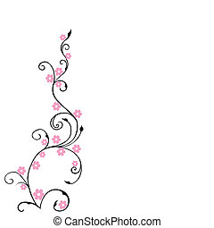 karafiát, květinový, květiny, grafické pozadí, listoví