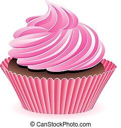 karafiát, vektor, cupcake