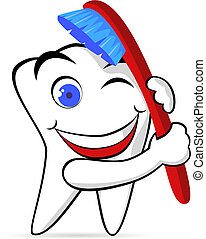 kartáč, zub