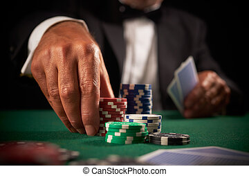 karta, herna, hráč, pomfrity, karban