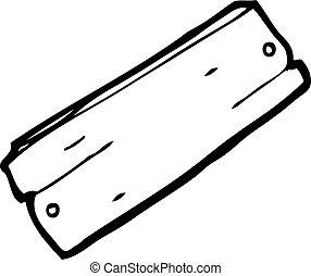 Kartoonový prkna dřeva
