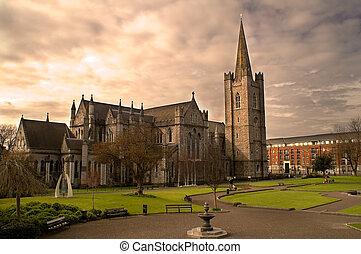 katedrála, st., dublin, ireland., patrick's