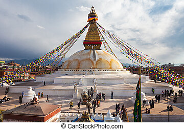 kathmandu, stupa, boudhanath