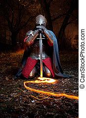 khight, středověký